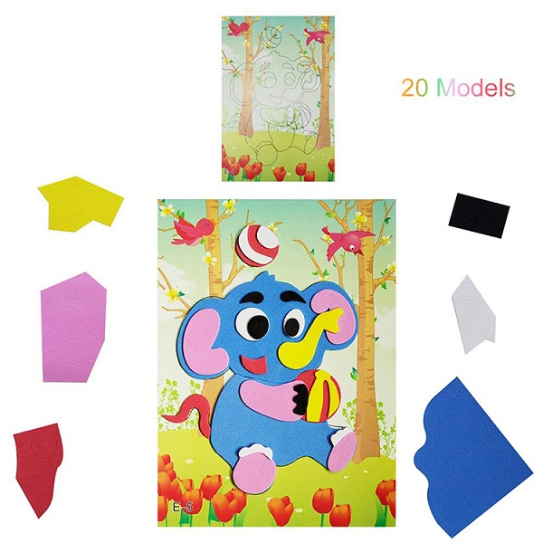 ABMS001 Custom EVA Educational Foam Toys Mosaic Sticker for Kids
