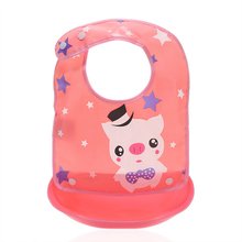 Removable Design Cartoon Pattern Silicone Baby Bibs