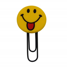 Customized Silicone Bookmark Soft Paper Clip 3d Bookmark Smile Face