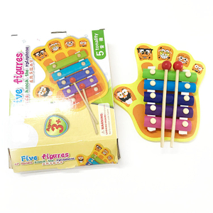 ABwt05 Wholesale Mini Kids Percussion Musical Instrument Wooden Toy Xylophone With 5 Tone