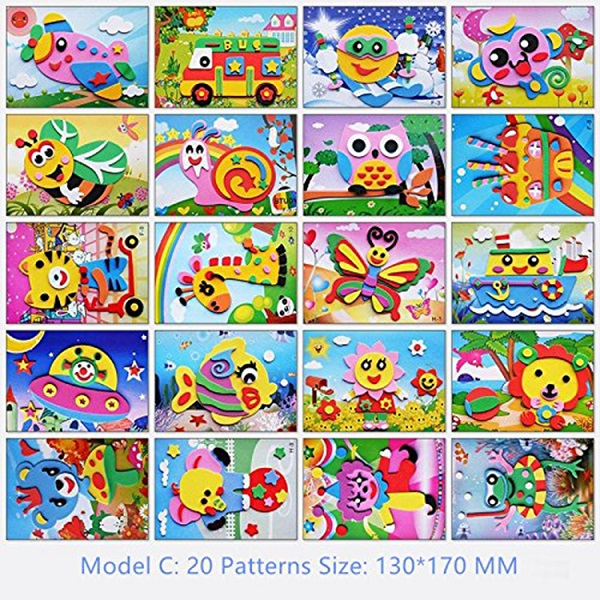 ABMS004 Non Toxic Eco-friendly Kids Educational Toys EVA Mosaic Sticker