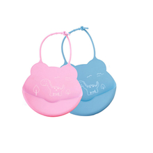 Eco- Friendly Food Grade Soft Silicone Baby Bibs
